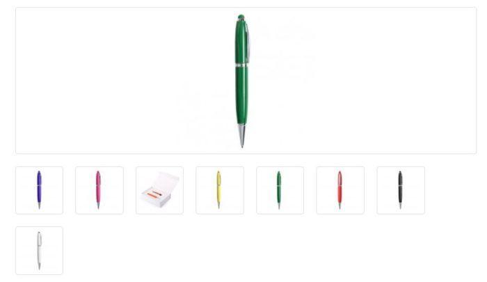 Bolígrafos punteros USB personalizados