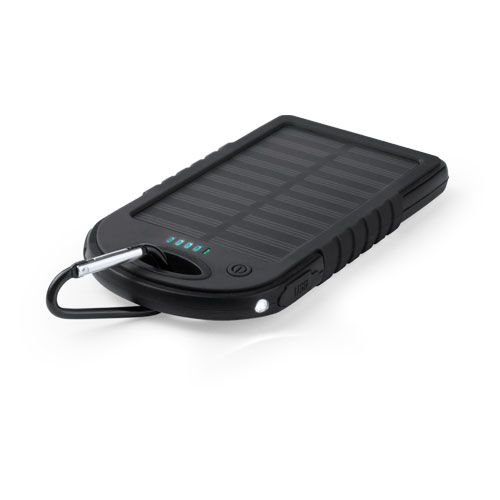 Power bank personalizada Lenard negra