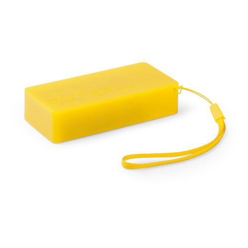 Power bank promocionales Nibbler amarillo