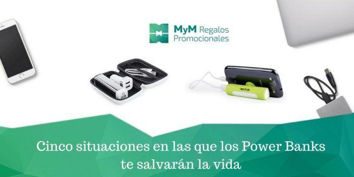 Los power banks personalizados te salvarán la vida
