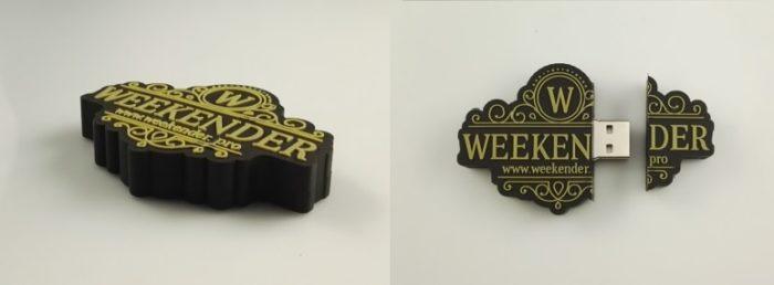 USB a medida con logo de Weekender
