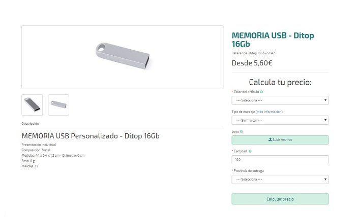 USB personalizados modelo Ditop