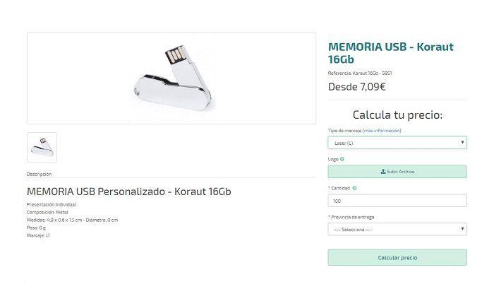 Nuevos modelos de USB Personalizados Koraut