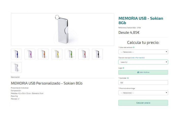 USB personalizados modelo Sokian