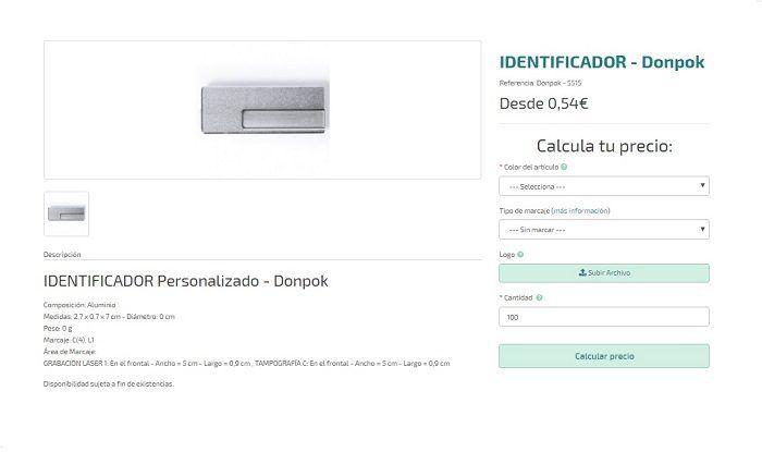 identificadores personalizados modelo Donpok