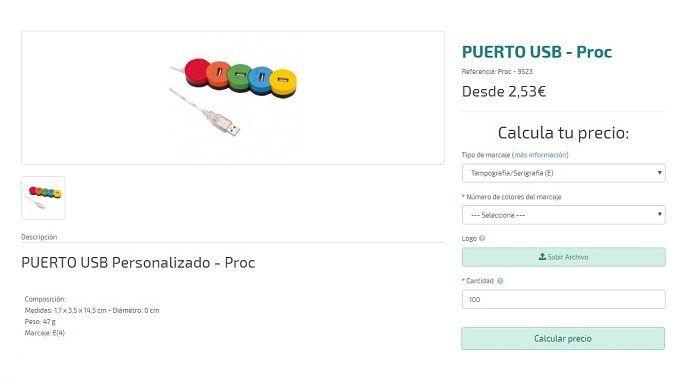 Puerto USB personalizado Proc
